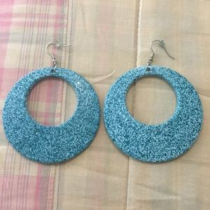 Mod Cloth Blue Hoop Earrings NEVER WORN